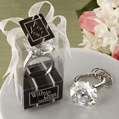 Llavero Anillo de Compromiso, recuerdo para boda o despedida de soltera, fiesta de compromiso.