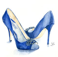 Custom Wedding Day Shoe Illustration | Lana's Shop