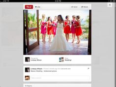 Multi-colored bridesmaid dresses