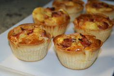 Anna recetas fáciles: Miniquiche Lorraine de bacon