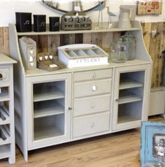 The sideboard in the pciture has been painted in Autentico Chalk Paint then waxed and distressed with clear and dark wax