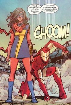 Comics and nothin' but — Ms. Marvel pencil & ink by Takeshi. Captain Marvel, Marvel Dc Comics, Young Avengers, Marvel Avengers, Jersey City, Ms Marvel Cosplay, Ms Marvel Kamala Khan, Iron Man, Marvel Tony Stark