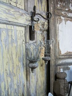 beautiful old doors and light fixture