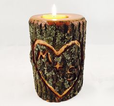 Keep the fire burning with this beautiful carved #heart #tealight #candle holder.