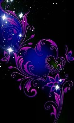 By Artist Unknown. Purple Wallpaper Iphone, Butterfly Wallpaper, Heart Wallpaper, Cute Wallpaper Backgrounds, Love Wallpaper, Cellphone Wallpaper, Cute Wallpapers, Colorful Wallpaper, Purple Love