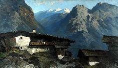 Berghof (1930), Oskar Mulley, #art #alpine