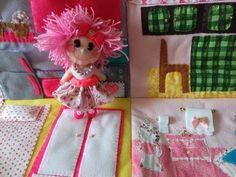 bolsa casinha de boneca em feltro