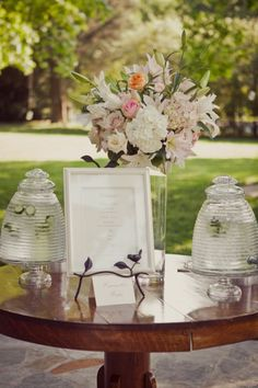 A pretty vignette  Source: cedarwood weddings #weddingdecor