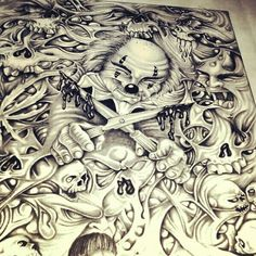 ♥ Sketch Tattoo Design, Skull Tattoo Design, Tattoo Sleeve Designs, Chicano Tattoos Sleeve, Body Art Tattoos, Chicano Drawings, Tattoo Drawings, Insane Tattoos, Dragon Tattoos For Men