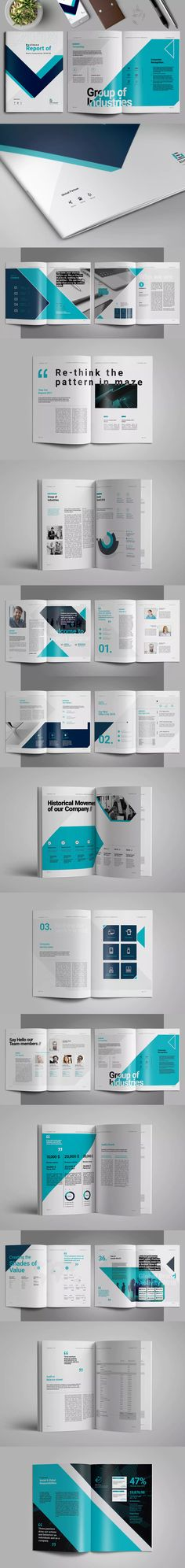 Report Brochure Template InDesign INDD A4 and US Letter Size