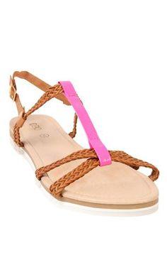 Deb Shops #neon #pink #sandal