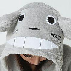 Kigurumi Pijamas Gato / Totoro Leotardo/Pijama Mono Halloween Ropa de Noche de los Animales Blanco / Gris Retazos Vellón de Coral Kigurumi 1026097 2016 – $19.19