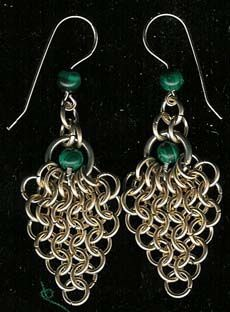 cool DIY Bijoux - Maile of the Dreamseeker Chainmail Instructions Beaded Cluster Earrings ~ Wire J...