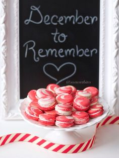 Red velvet & white chocolate swirl French Macarons! For recipes, ideas & more follow @sosweetbites on Instagram