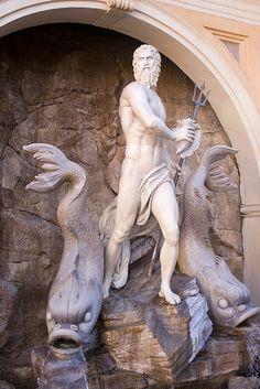 Greek god- Posiedon, Roman-Neptune.