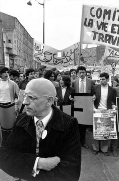 Demonstration in support of immigrant workers. Michel Foucault in the foreground. Paris, 1973. Photo: Gilles Peress.