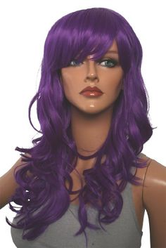 Epic Cosplay Hestia Lux Purple Curly Wig 22 Inches(08LUX)
