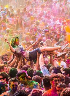 holi festival of colors, india.