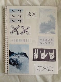 i want to make an art journal Notebook Collage, Diy Notebook, Soft Grunge, Tumblr Scrapbook, Pale Tumblr, Cute Notebooks, Journals, Cute School Supplies, Decorate Notebook