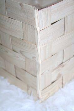 Under $5, diy, wood look pendant light made out of pizza boxes.  Retropolitanhip.blogspot.com