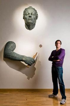 The Italian sculptor Matteo Pugliese