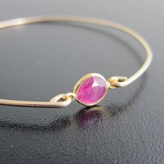 Pink+Sapphire+Bracelet+Pink+Sapphire+Bangle+Pink+by+FrostedWillow,+$39.95