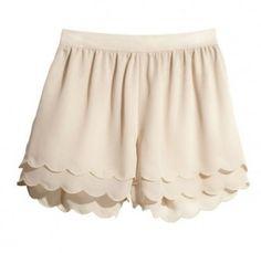 3 layered scallop shorts