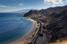 Playa de Las Teresitas, Tenerife #Spain #Tenerife   http://www.donquijote.org/en/learn-spanish-in-spain/tenerife-city
