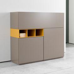 Cubo   Schränke   Sudbrock Tv Unit Furniture, Cabinet Furniture, Hallway Shoe Storage, Office Interiors, Wood Interiors, Interior Design Tools, Wood Slat Wall, Bedside Table Design, Small Cabinet