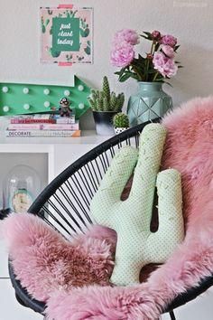 DIY | kaktus kissen selber nähen - handmade cactus pillow | luzia pimpinella by mariana
