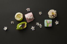 花をテーマにした日本画が可憐な和菓子に変身!