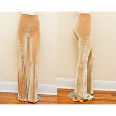 iconoclasp Golden Velvet Stretch High Waist Bellbottom Flare Pants... ($70) ❤ liked on Polyvore featuring pants, black, women's clothing, high waisted black skinny jeans, flare pants, black pants, bell bottom pants and slim pants