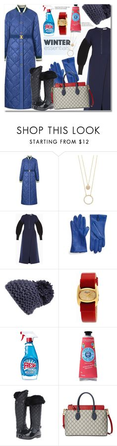 """""""Winter"""" by vkmd ❤ liked on Polyvore featuring Tory Burch, Kate Spade, BCBGMAXAZRIA, Fownes Brothers, BCBGeneration, Salvatore Ferragamo, Moschino, L'Occitane, MICHAEL Michael Kors and Gucci"""
