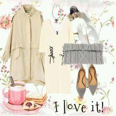 #coat #necklace #coordinate #shoes #dress #cute #tokyo #tgc #iQON #pintarest #mao_pak #O_range o(^-^o)(o^-^)o (Tokyo Opera City Tower)