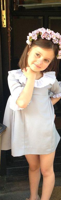 cute flower girl dress, halo headpiece