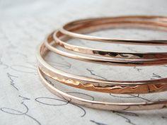 rose gold bangle bracelet set