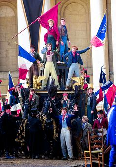 The barricades for the Les Miserables Aaron Tveit Les Miserables, Eddie Redmayne Les Miserables, Les Miserables Movie, 2012 Movie, I Movie, Les Miserables Costumes, Broadway Costumes, Sad Movies, The Book Thief