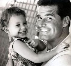 James Garner with his daughter.