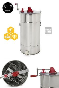 Stainless Steel Honey Bee Extractor Harvest Drum 2-Frame Honeycomb Centrifuge  #XtremepowerUS