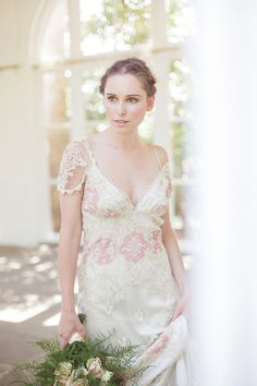 Claire Pettibone 'Genevieve' wedding gown http://www.clairepettibone.com/bridal/?cp=gowns/genevieve via Blackburn Bridal Couture   Photo: @Sarah Chintomby Gawler via @A Whole Lotta Love My Dress
