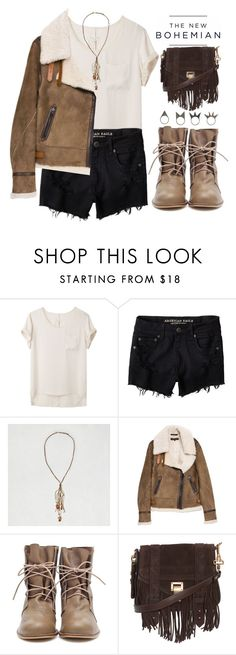 """""""Nutmeg: AEO Contest Entry"""" by bellacharlie ❤ liked on Polyvore featuring American Eagle Outfitters, rag & bone, Proenza Schouler, NLY Accessories, modern, BackToSchool, autumn, Bohemian, neutral and aeostyle"""