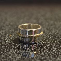 """By Atelier Les mille-nuits (Montreal), Notre-Dame-de-Grâce jewelry collection. """"Who's the lover"""" bronze and silver ring Montreal, Notre Dame, Jewelry Collection, Rings For Men, Silver Rings, Wedding Rings, Bronze, Engagement Rings, Atelier"""