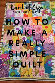 How to make a gorgeous quilt in just one day. A really easy tutorial for sewing beginners - Land of Size. How to make a gorgeous quilt in just one day. A really easy tutorial for sewing beginners - Land of Size. Quilt Baby, Rag Quilt, Quilting For Beginners, Sewing Projects For Beginners, Beginner Quilting, Simple Sewing Projects, Easy Hand Quilting, Diy Quilting, Sewing Hacks
