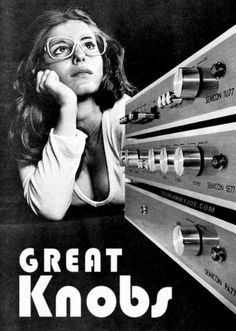 Great knobs, old funny ad