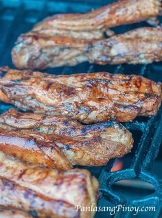 Grilled Pork Belly on the Grill