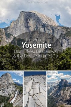 Yosemite First-Timers Guide: Best Hikes Best Views Best things to do including Half Dome Mist Trail Glacier Point Yosemite Falls and more. California National Parks, Us National Parks, Yosemite National Park, California Travel, Northern California, Mist Trail, Yosemite Falls, Yosemite Hiking, Yosemite Glacier Point