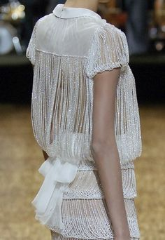 white beaded dress haute couture V I C I O U S L Y // C Y D