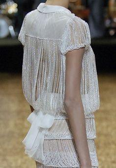 white beaded dress haute couture V I C I O U S L Y // C Y D