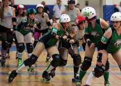 A solid block from the Hartford Wailers to jammer, Squeeky Von Hurtin' of the Shoreline Salty Broads (Photo credit: John Luba Photography)