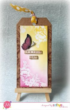Mudra Craft Stamps: Stamp Highlights : Vintagy Fluorish, Polka dot butterfly, Brushed sentiment,Butterfly Flutter